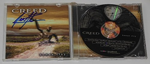 Creed Human Clay Scott Stapp Hand Signed Autographed Music Cd Compact Disc Loa