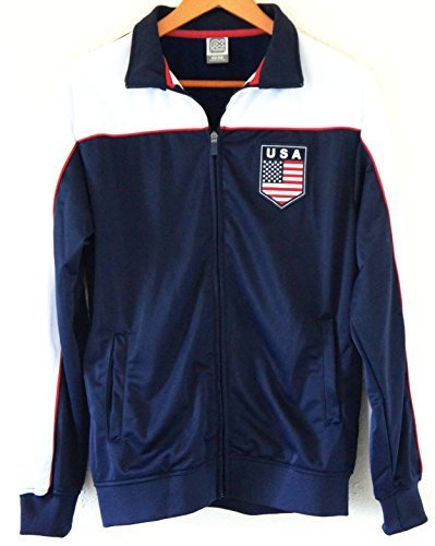Soccer Team USA Adult Fashion Soccer Track Jacket NAVY by Soccer Fashion Jersey