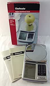 Chefmate Digital Nutritional Scale Displays Nutritional Elements