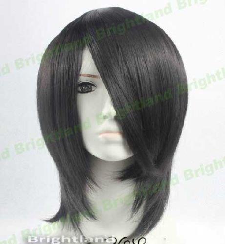 Playcosland Cosplay Black Butler Sebastian Michaelis Black Heat Resistant Cosplay Wig