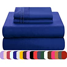 Mezzati Luxury Bed Sheets Set - Sale - Best, Softest, Coziest Sheets Ever! - High Quality 1800 Prestige Collection Brushed Microfiber Bedding - Money Back Guarantee (Royal Blue, Queen)