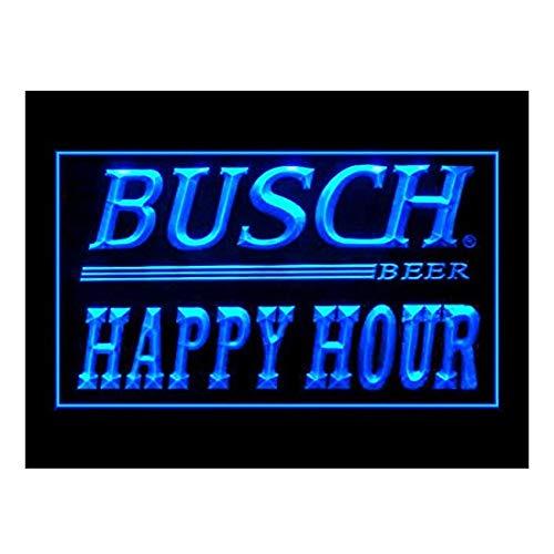Busch Beer Happy Hour Drink Led Light Sign