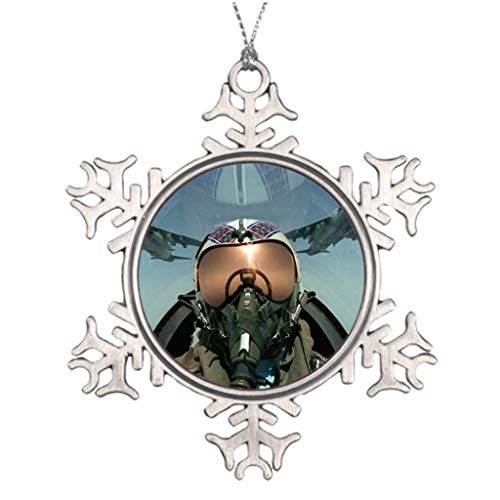 Cheyan Ideas for Decorating Christmas Trees Air Force Pilot Us Air Force Pilot Picture Snowflake Ornament (Best Way To Become An Airforce Pilot)