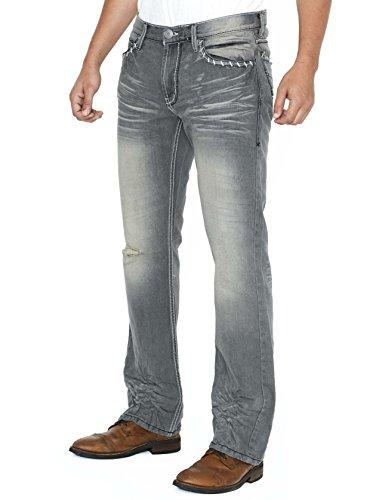 Helix Slim Bootcut Men's Jeans - 36W x (Faded Black Jeans)