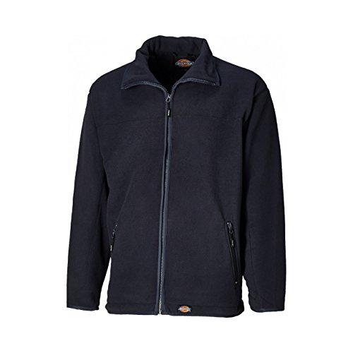 Dickies Mens Full Zip Micro Fleece Jacket (XL) (Navy Blue)