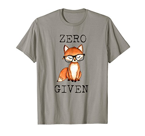 Zero Fox Given Funny Fox Shirt With Hipster Nerd Glasses