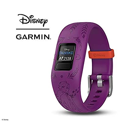 Garmin vívofit Jr 2, Kids Fitness/Activity Tracker, 1-Year Battery Life, Adjustable Band, Disney Frozen 2, Anna, Purple