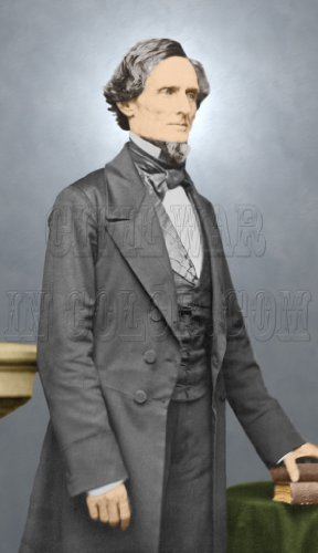 President Jefferson Davis, C.S.A, Color