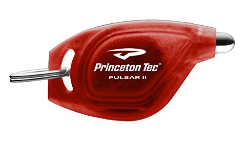 Flashlight Red Led Black Body (Princeton Tec Pulsar II Key Chain Light (10 Lumens, Red LED, Black Body))