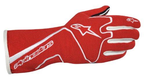 Alpinestars (3551113-32-M Red/White Medium Tech 1 Race Gloves