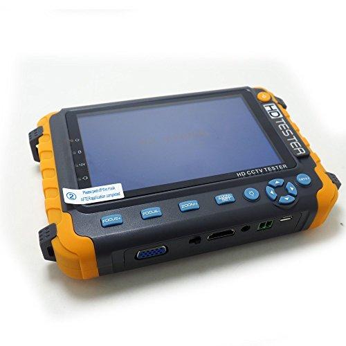 5 Inch CCTV Tester 5MP AHD 5MP TVI 4MP CVI CVBS Coaxial HD Video Monitor Tester Analog Video Test UTP Cable Test VGA/HDMI Input DC12V Output Camera Tester