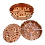Prettyia Gold Round 9'' Cake Pan Makes 3 Types of Cake Checkerboard, Pocket or Round
