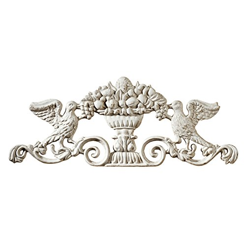 Design Toscano Urn Ornamental Architectural Pediment Wall Art