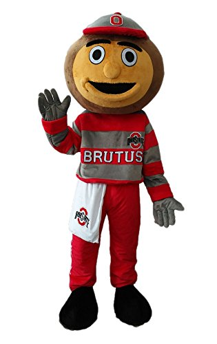 ARISMASCOTS Adult Size Ohio Buckeyes Brutus Mascot Costume Sports Mascots for Team Sports Mascots Character Design]()