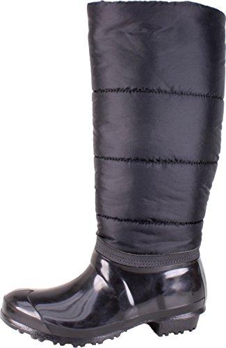BOCKSTIEGEL® MANDY Mujer - Botas de goma con estilo (Tallas: 36-41) Black