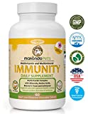 Dog Immune System Boosters-Immunity Boost Supplements for Dogs/Cats -Health Support Chewable Treats System for Your Pets|Coat & Health Maintenance-All Natural Immunity Boosters