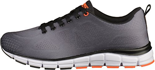 Boras Herren Sneaker - Schwarz Schuhe in Übergrößen Grau(Schwarz/Grau)