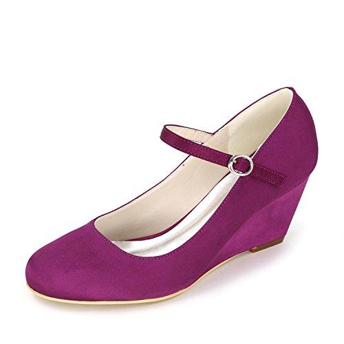 02 ropa Marfil La yc 9140 Altos Tacones Multicolor De Boda Mujer Purple Pendiente Blanco boda L Personalizados SB16fwHq6