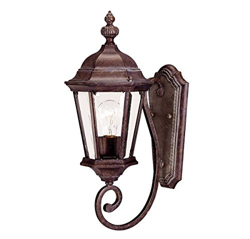 Savoy House 5-1302-40 Outdoor Sconce with Clear Beveled Shades, Walnut Patina (Walnut Patina Finish)