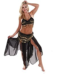 Belly Dancer Costume Set   Chiffon Skirt-Top & Hip Scarf   Passionate Persuasion