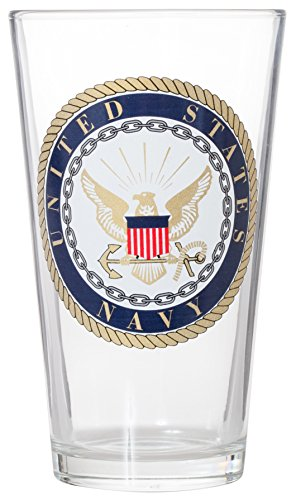 - Officially Licensed United States Navy Emblem Pint Glass