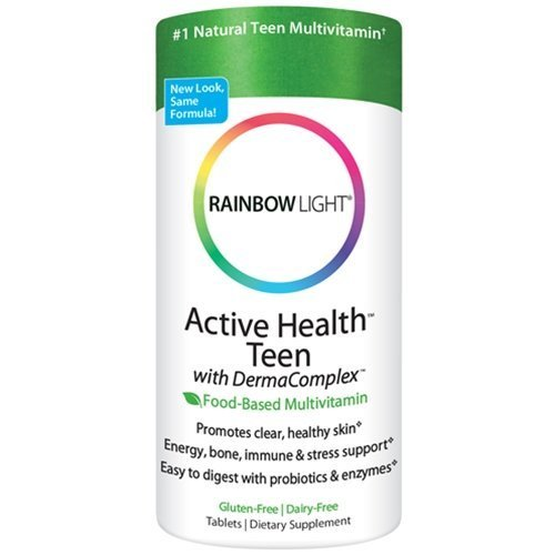 Tabs Rainbow Light (Rainbow Light Active Health Teen with DermaComplex multivitamin 60 tablets)