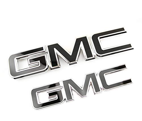 Truck Emblem Warehouse 2 New Custom Black & Chrome Sierra 2015-2018 Grill Tailgate Set ()