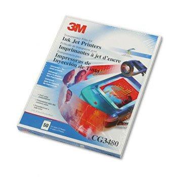 (3M Transparency Film for Inkjet Printers TRANSFLM,FOR INK JET DPCT640 (Pack of2))