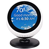 Toplee Echo Spot Stand, Magnetic Base Stand Adjustable 360 Degree Full Rotation Echo Spot Accessories for Home Office Bedroom Kitchen Application Base (Black)