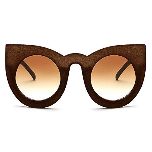 eb1b4d1fb0 De bajo costo Velvet Frame Mujeres Cat Eye Sunglasses hibote Retro Gradient  Lentes Gafas