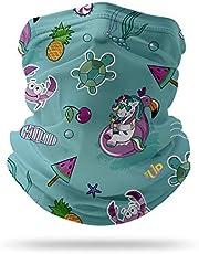 ONE UP USA Kids Neck Gaiter Face Mask - UV Protection Bandana Tube - Breathable Bandana - Headband - Reusable Cloth Dust Mask