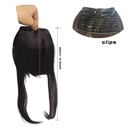 Synthetic Clip in Front Hair Bangs Fringe Extensions by Namecute (F6062-#4) by Namecute (Image #1)
