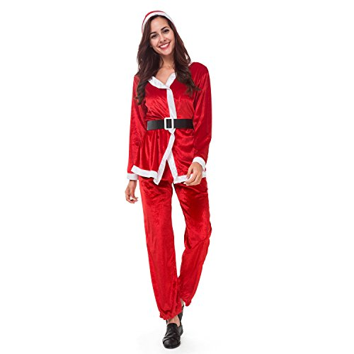 [Santa Claus Costume for Women Christmas Decoration Halloween Decor] (Santa Claus Costume Women)