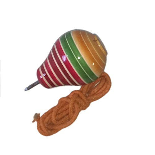Funwood Games Wooden Spinning Lattoo With Thread Multicolor