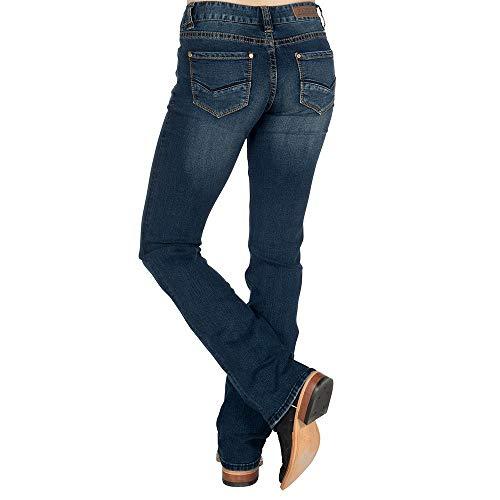 Rock N Roll Cowgirl Womens Cowgirl Extra Stretch Mid Rise Boot 24x36 Denim