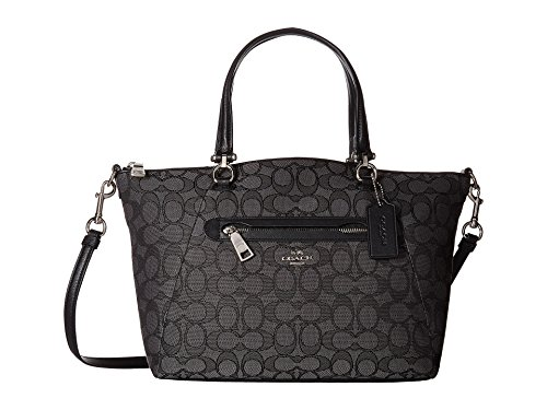 COACH Women's Signature Prairie Satchel Sv/Black Smoke/Black1 One Size by Coach