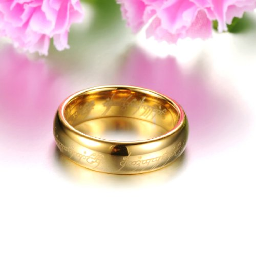Opk Jewelry Fashion Tungsten Carbide Couple Rings 18k Gold Plated
