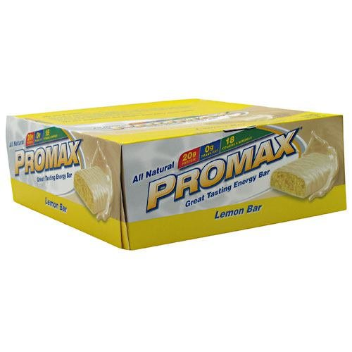 Promax Energy Bar Lemon Bar 12 - 2.64 oz (75 g) bars [31.68 oz (900 g)]