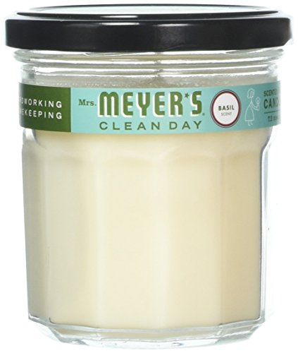 Mrs. Meyer'S Clean Day Soy Candle Scented Basil Jar 7.2 Oz , 2 Pack