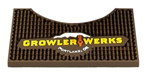 GrowlerWerks uKeg 128 Bar Mat, Brown, Small - GWA1027-128