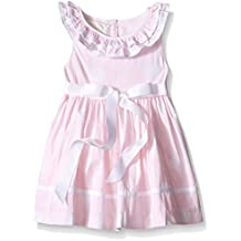 Laura Ashley London Baby Girls' Pink and White Polka Dot Dress