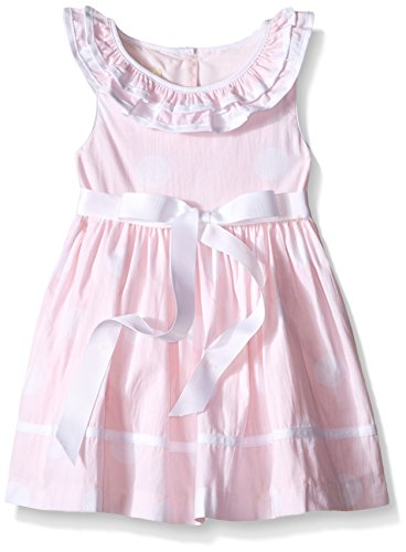 [Laura Ashley London Girls' Baby White Polka Dot Dress, Pink, 0-3 Months] (Baby Easter Dresses)