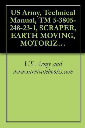 US Army, Technical Manual, TM 5-3805-248-23-1, SCRAPER, EARTH MOVING, MOTORIZED, DIESEL ENGINE DRIVEN MODEL 621B (NSN 3805-01-153-1854) (EIC: EH3)