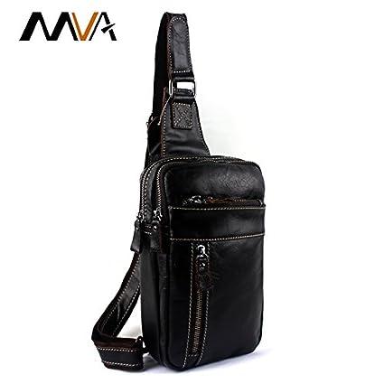 41c3e72bdb49 ... MVA Genuine Leather Men Bags Men s Crossbody Bags Men Messenger Bag  Zipper Leather Phone Chest Pack Waist Small Belt Bag Man Online at Low  Prices in ...