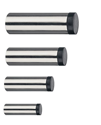 GedoTec® EDELSTAHL Wand-Türpuffer Türstopper TRENDY Gummi-Puffer für Wand & Boden-Montage   Tiefe: 100 mm   8 mm Gummiauflage   inkl. Befestigungsmaterial   Markenqualität für Ihren Wohnbereich