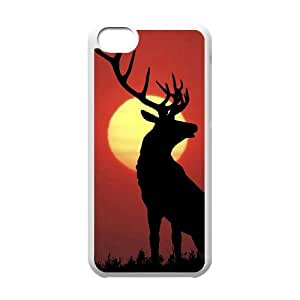 Iphone 5C 2D Personalized Phone Back Case with Deer Image
