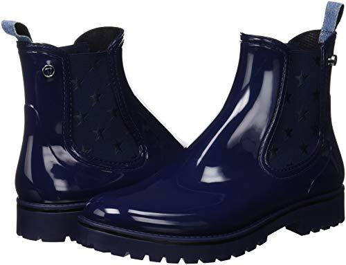 Trussardi De Pluie U280 Femme Rubber Jeans Bleu Bottes Bottines blu rwOqrIC