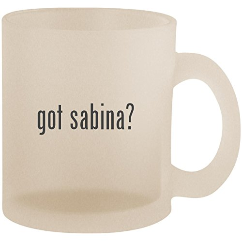got sabina? - Frosted 10oz Glass Coffee Cup Mug, used for sale  Delivered anywhere in USA