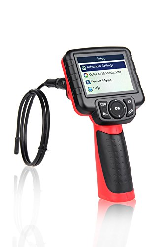 Autel Maxivideo MV400-5.5mm Digital Inspection Camera Video Scope with 0.22 inches Diameter Camera Probe 5 Times Digital Zoom LED Illumination 3.5″ LCD Monitor