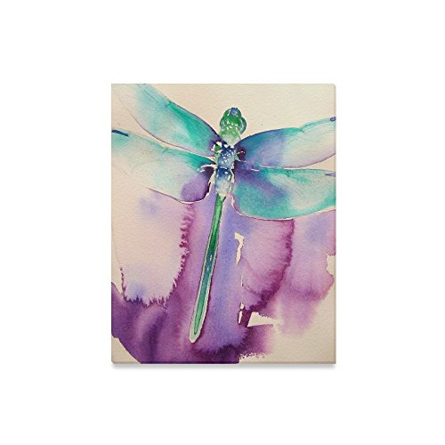Dragonfly Canvas (Hot Sale Beautiful Dragonfly Pattern Oil Painting Canvas Print Modern Wall Art for Home Decoration(16x20inch))